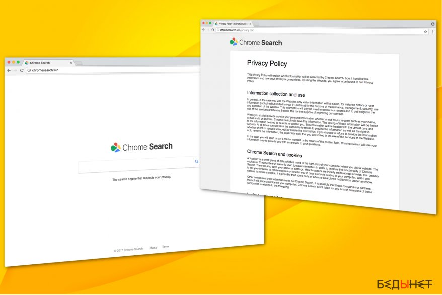 Chromesearch.win virus illustration