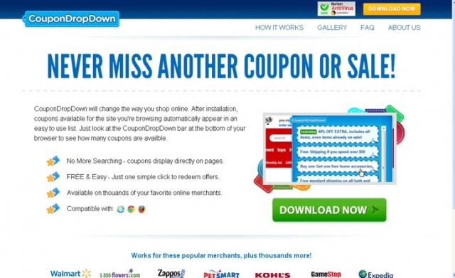 CouponDropDown снимок