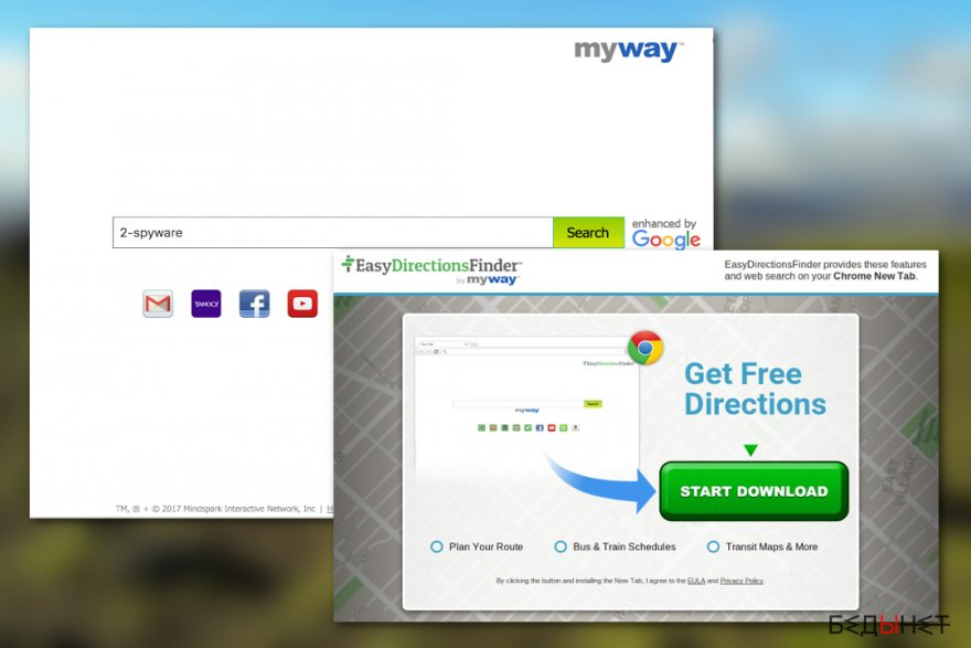 EasyDirectionsFinder Toolbar virus