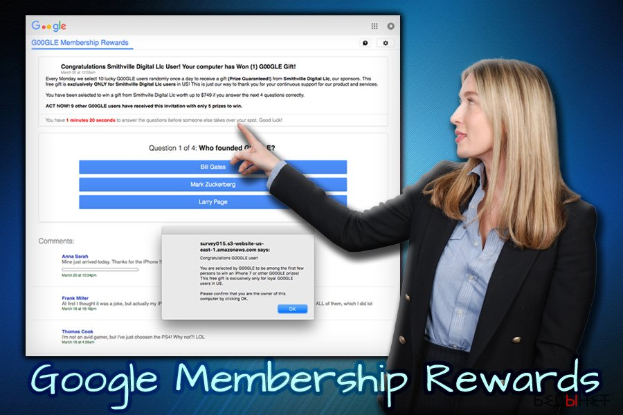 Опрос-афера Google Membership Reward