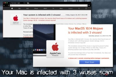 Mac вирус - Your Mac is infected with 3 viruses