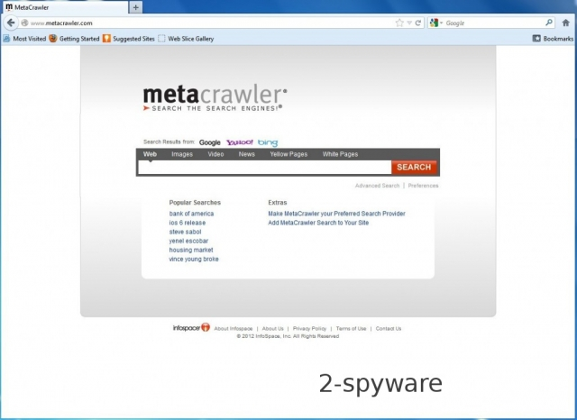 MetaCrawler.com virus снимок