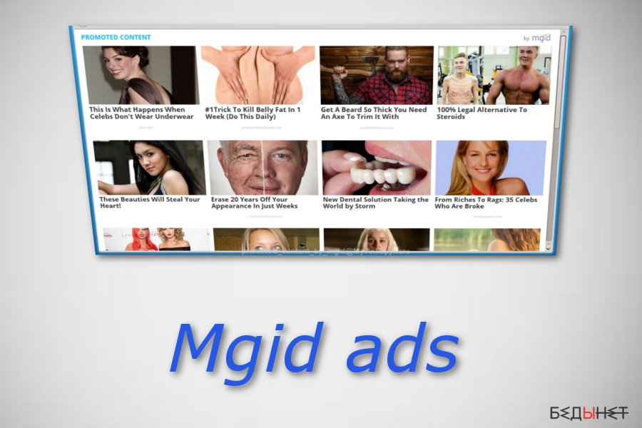 «Promoted Content by mgid» ads