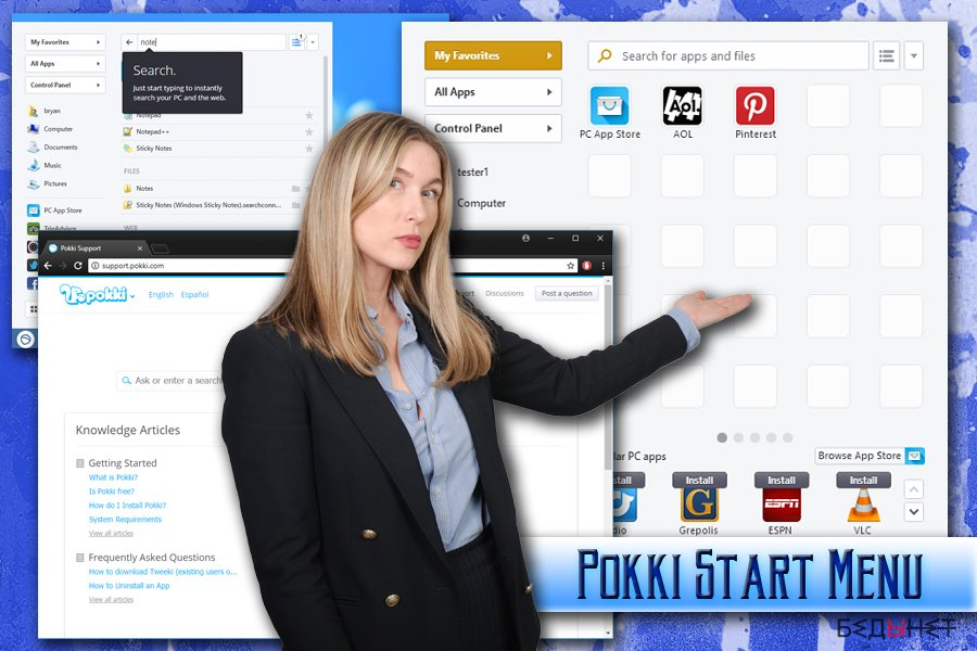Pokki Start Menu вирус