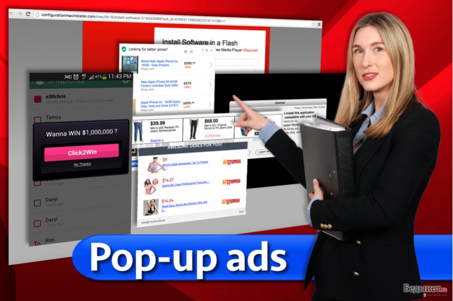 Pop-up ads снимок