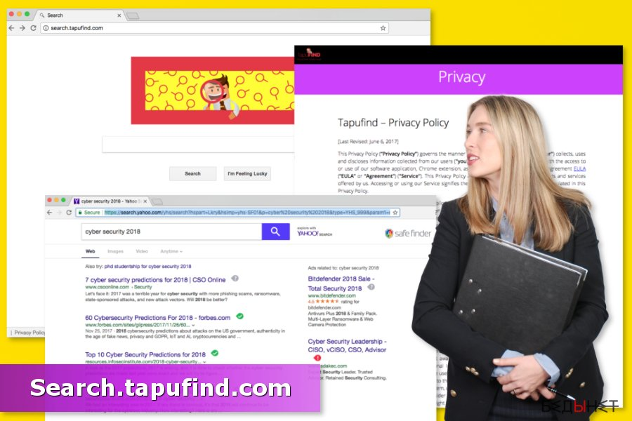 Иллюстрация Search.tapufind.com вирус