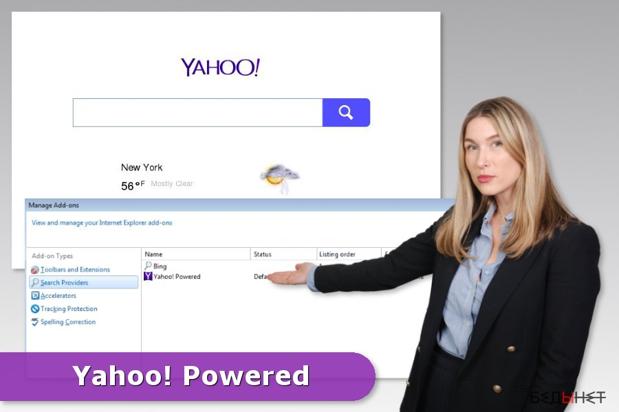 Example of Yahoo Powered hijack