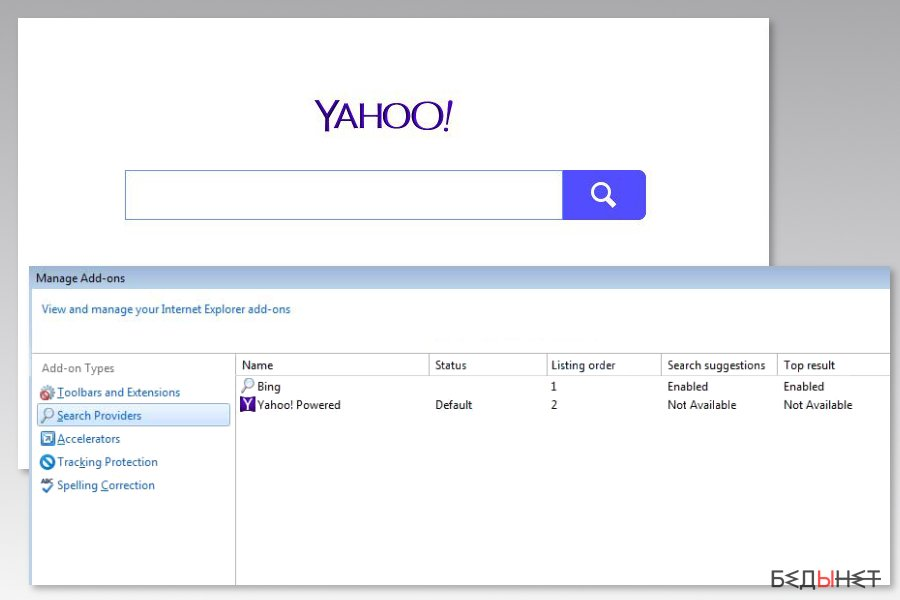 Image of Yahoo Powered virus